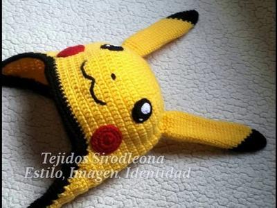 Gorro Pikachu tejido a crochet