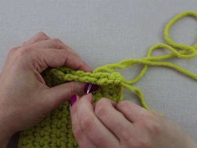 Mis Creaciones de Crochet - Técnica 09 A: Coser las costuras pespunte