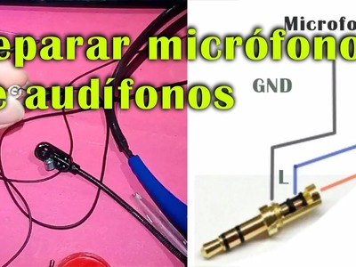 Reparar Micrófono de audifono y cambiar plug de 3.5 (DIY)