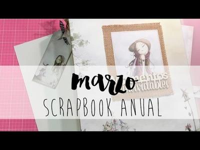 SCRAPBOOK ANUAL: MARZO. Tutorial scrapbooking.