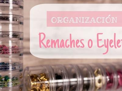 Scrapbooking Organización: Remaches, Ojales metálicos o Eyelets. Eyelets Storage.