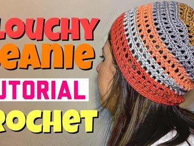 Slouchy Beanie - Tutorial Crochet