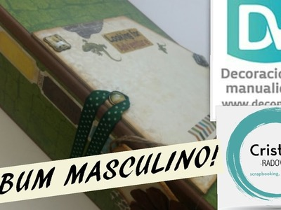 TUTORIAL SCRAPBOOKING. ÁLBUM MASCULINO