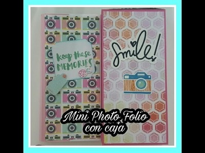 Tutorial Scrapbooking:  Mini Photo folio