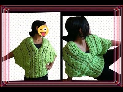 Blusa de trenzas primaverales en crochet parte 4. linda blusa.crochet viral. punto fantasía