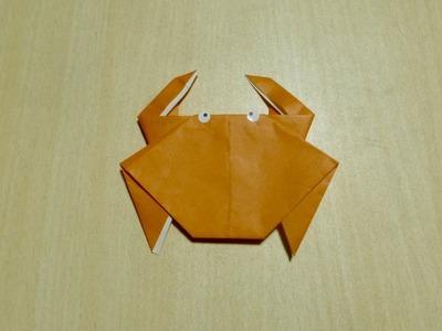 【Bricolaje】 Cangrejo. Origami. El arte de doblar el papel.