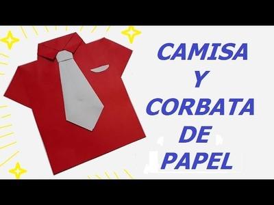Camisa y corbata origami de papel -  Paper Origami shirt and tie