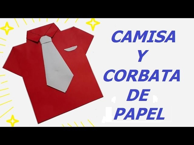how to make a origami shirt and tie