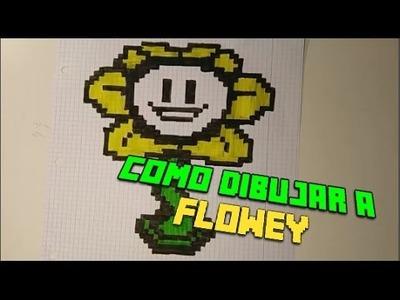 Como dibujar a Flowey   Undertale   Pixel Art
