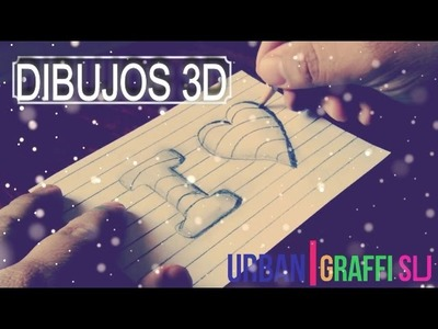 Como hacer dibujos 3d facil | dibujos de amor very easy how to draw 3d