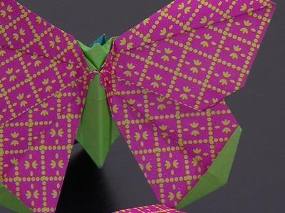 Como Hacer Mariposa de Colores en Origami - HogarTv por Juan Gonzalo Angel