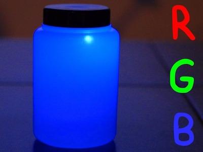 Cómo Hacer un Bote Luminoso que Cambia de Color. DIY