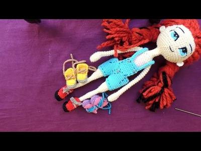 COMO TEJER ZAPATILLAS para Muñeca a Crochet - Modelo #3 - Parte 2