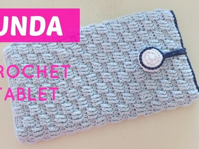 Crochet funda para tablet o libro electrónico