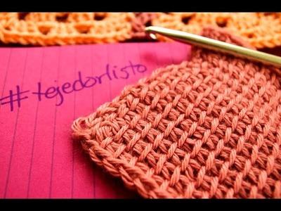Crochet Tunecino Punto Simple