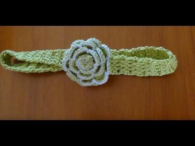 Diademas a crochet con sobrantes de hilo  fáciles con cualquier flor a ganchillo