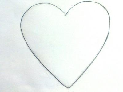 Dibujos de corazones: Cómo dibujar un emoji corazón a lápiz paso a paso - Fácil para niños