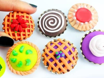 DIY: 5 Pasteles. Tartas en Miniatura para Muñecas - Manualidadesconninos