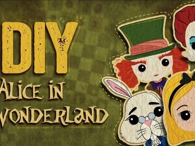 DIY Alice in Wonderland. Alicia en el País de las Maravillas. Libretas literarias