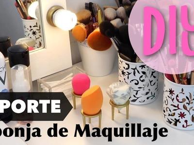 ★ DIY: APRENDE A HACER UN SOPORTE PARA TU ESPONJA DE MAQUILLAJE!! ★ BEAUTY BLENDER HOLDER