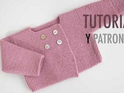 DIY Cómo hacer rebeca de lana para bebés