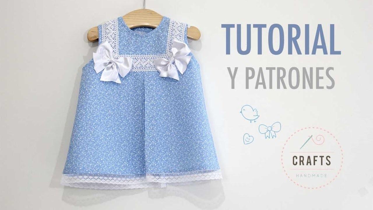 DIY Costura: Como hacer vestido para niñas con lazos (patrones gratis)