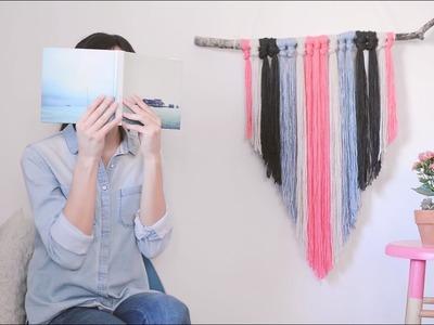 DIY: Haz un adorno de estambre para la pared