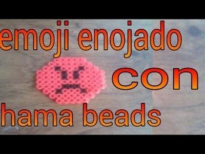 Emoji enojado con hama beads