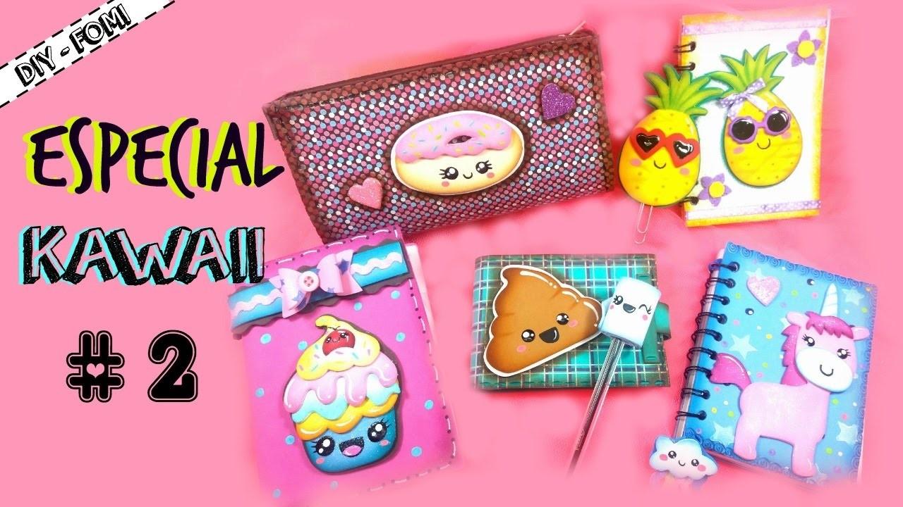 Especial KAWAII #2 (Cartuchera Donut y Agenda Cupcake)   KLOF ????