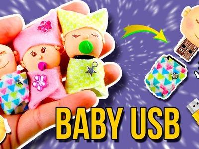 ¡BEBÉS en MINIATURA! * Decora tu MEMORIA USB ???? DIY USB Flash Drive