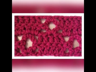 Izda Motivo de crochet. ganchillo sencillo y elegante con calado de rombo.
