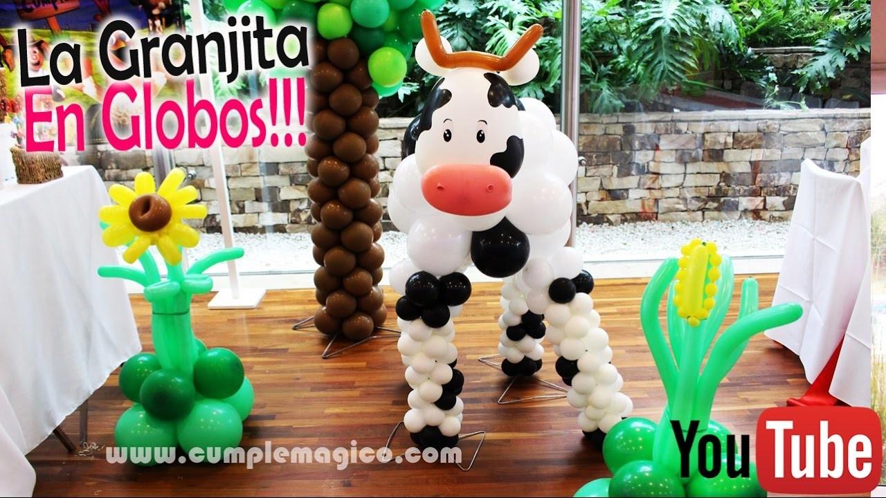 Mirá La Granjita en Globos!! Animalitos de la Granja!! ♥ DIY ♥