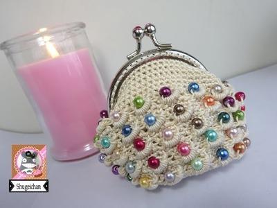 Monedero de perlas a crochet