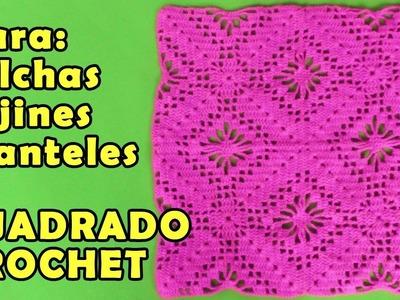 Muestra para mantel de mesa, cojines, colchas y mantitas tejido a crochet