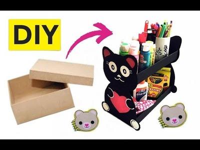 Organizador hecho con caja de zapato + 2 ideas DIY