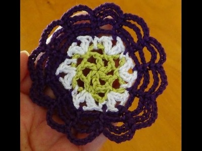 Paso a paso flor a crochet cadenitas para principiantes ganchillo fácil