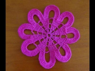 Paso a paso flor de 8 picos a crochet fácil motivo a ganchillo