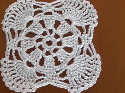 Paso a paso rosetón a crochet  para principiantes motivo y unión a ganchillo