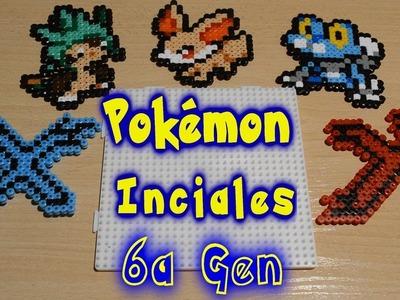 Pokemon iniciales de la 6a generación con Hama. Perler Beads! Pokémon X Y ♥
