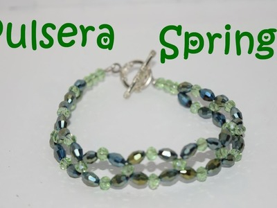 Pulsera Spring - Tutorial - DIY