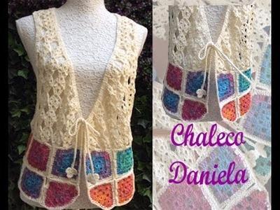TEJE CHALECO DANIELA - CROCHET FÁCIL Y RÁPIDO