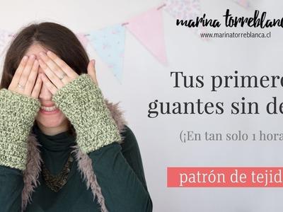 Tus primeros guantes sin dedos a crochet [Patron de tejido]