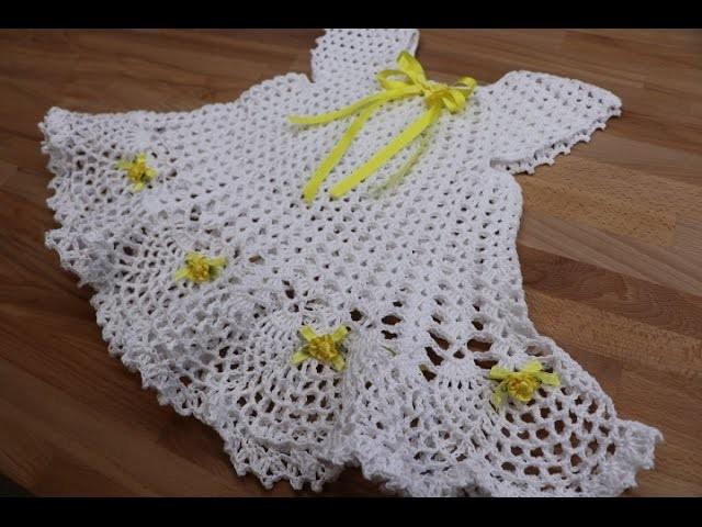 vestido crochet para ni a de 18 meses a 2 a os. Black Bedroom Furniture Sets. Home Design Ideas