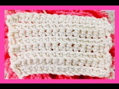 9 Aprendamos juntos Crochet: punto bajo alternando en la vuelta lazada delantera y trasera
