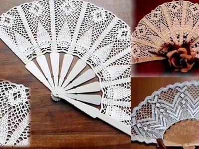 Abanico tejido a Crochet Ganchillo