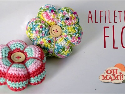 ALFILETERO FLOR A CROCHET