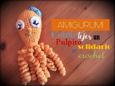 AMIGURUMI del PULPITO solidario a crochet, PASO A PASO (zurdo)