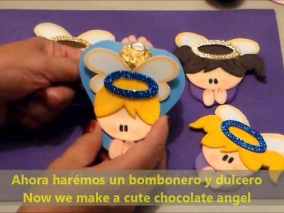 Angelitos para Primera Comunión, Bautizos, Baby Shower y más. manualidades faciles