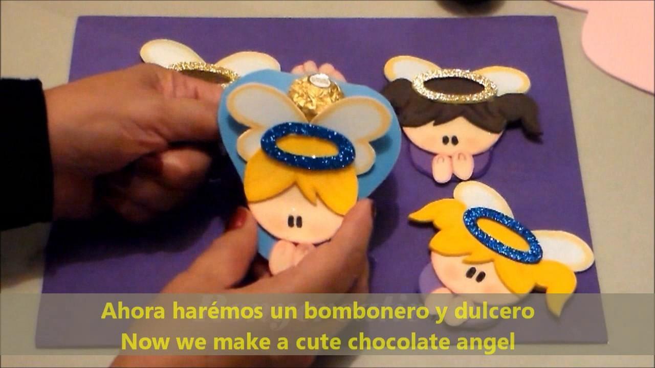 Angelitos para primera comuni n bautizos baby shower y - Mas manualidades faciles ...