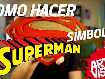 ARTE VISUAL - SUPERMAN COMO HACER SÍMBOLO #AbrilVideosMil DIY #DCComics #JUSTICELEAGUE